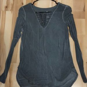 American Eagle front detail top